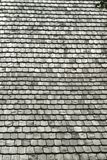 Roof pattern. Wooden titles on a traditional roof Stock Images