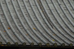 Roof pattern Japan. Pattern of roof tiles on a Japanese temple in Nikko stock images