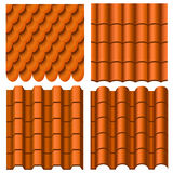 Roof Pattern Set Stock Photos