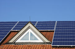 Roof With Photovoltaic System Stock Photos