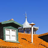 Roof in Portugal Royalty Free Stock Images