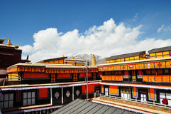 Roof of Potala Palace Stock Image