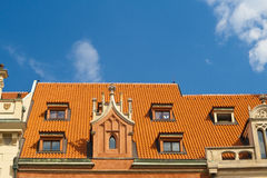Roof in Prague Stock Images