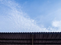 Roof protect sunlight texture and background Stock Images