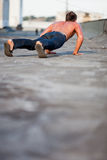 Roof Pushups Royalty Free Stock Images