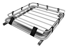 Roof rack. Isolated on a white background stock illustration