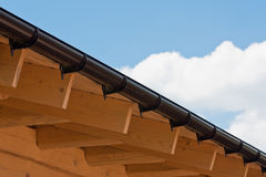 Roof Rafters. Wooden rafters of a roof of of home under construction stock images