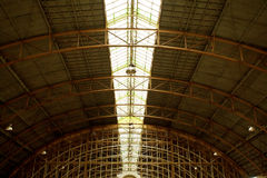 Roof of railway station Royalty Free Stock Photo