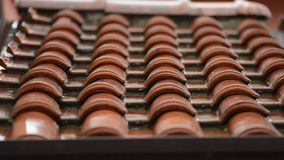 Roof in a rainy day. Roof tiles in a rainy day stock footage