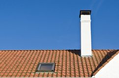 Roof of red tiles royalty free stock photo