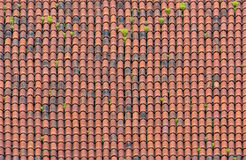 Roof with red tiles Royalty Free Stock Image