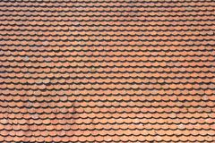 Roof with red tiles Royalty Free Stock Images