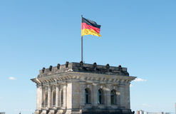 On the roof of Reichstag Stock Photo