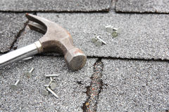 Roof repair Royalty Free Stock Images