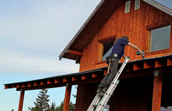 Roof repairs Stock Photography