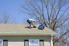 Roof Repairs Stock Photos