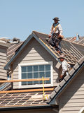 Roof Repairs Royalty Free Stock Photography