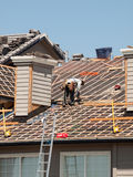 Roof Repairs Stock Image