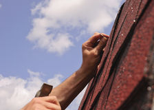 Roof repairs Stock Image