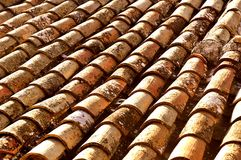 Roof for reparations old and antique mediterranean roof style Stock Image