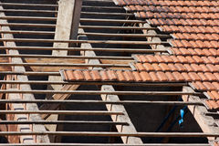 Roof restoration Stock Photo