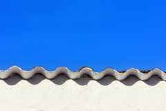 Roof with ripple pattern Stock Photos