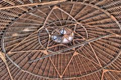 Roof of a round Barn Royalty Free Stock Image