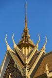 Roof of the Royal Palace in Phnom Penh. Khmer architecture, Camb Royalty Free Stock Photography
