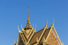 Roof of the Royal Palace in Phnom Penh. Khmer architecture, Camb Stock Photos
