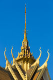 Roof of the Royal Palace in Phnom Penh. Khmer architecture, Camb Royalty Free Stock Photos
