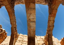 Roof of ruined ancient building Stock Images