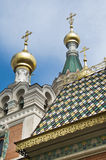 The roof of Russian orthodox cathedral in Vienna Royalty Free Stock Photo