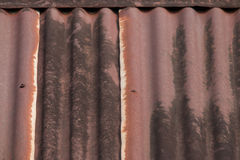 Roof rusty corrugated iron metal texture Stock Images