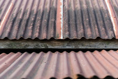A Roof rusty corrugated iron metal texture Stock Image