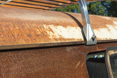 Roof of a Rusty Kombi at show Stock Photography