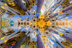 The roof of the Sagrada Familia Stock Photos