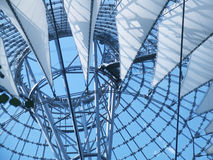 Roof & sails. Roof play at the sony center, berlin, germany Royalty Free Stock Photos