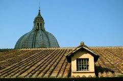 The Roof of Saint Peter's Basilica Royalty Free Stock Photo
