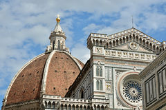 Roof of Santa Maria del Fiore cathedral in Florence royalty free stock image