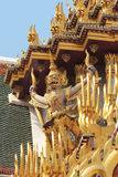 Roof Sculptures at the Grand Palace, Bangkok royalty free stock image