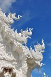 Roof sculptures of Wat Rong Khun temple Stock Image