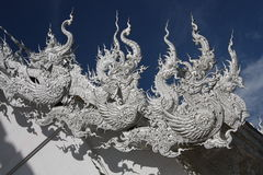 Free Roof Sculptures With Thai Dragons, Thailand Stock Photography - 23404362