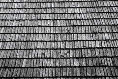 Roof section with aging wooden Royalty Free Stock Image