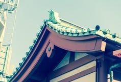Roof of Senjoji famous shinto Temple in Asakusa,Japan Stock Image