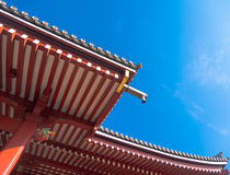 Roof of Senjoji Temple in Tokyo ,Japan Royalty Free Stock Image