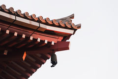 Roof of Senjoji Temple in Tokyo , Japan isolated Royalty Free Stock Photo