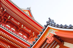 Roof of Sensoji buddhist temple. Sensoji buddhist temple in Asakusa,Tokyo Japan Royalty Free Stock Image