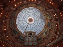Roof of shanghai global harbor shopping mall. European style Royalty Free Stock Photos