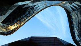 Roof of Shanghai World Expo Memorial Hall with blue sky. royalty free stock image