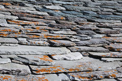 Roof, shindles, natural stone, quartzite Stock Photos